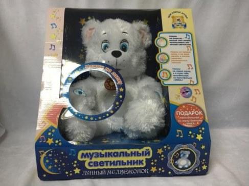 Мягкая игрушка Мульти-Пульти Лунный мишка светильник (звук) V40223/38BS29 в Москве