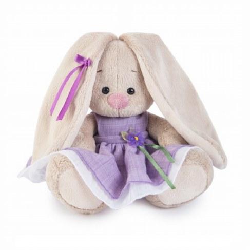 Мягкая игрушка BUDI BASA Зайка Ми в фиолетовом платье с цветочком SidX-182 в Москве