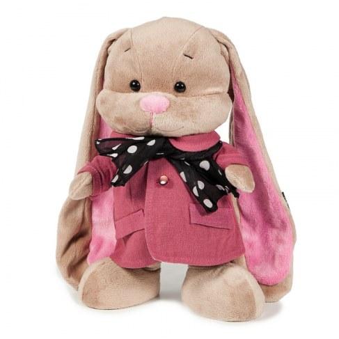 Мягкая игрушка MaxiToys Зайка Лин В Розовом Пальто со Стильным Шарфом 25 см JL-004ST-25 в Москве