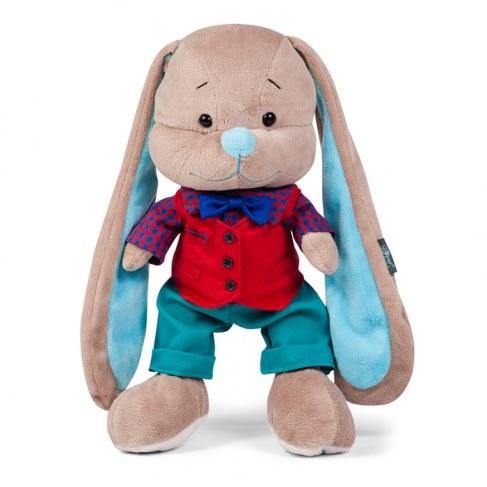 Мягкая игрушка MaxiToys Зайчик Жак в красной жилетке, 25 см JL-026-25 в Москве