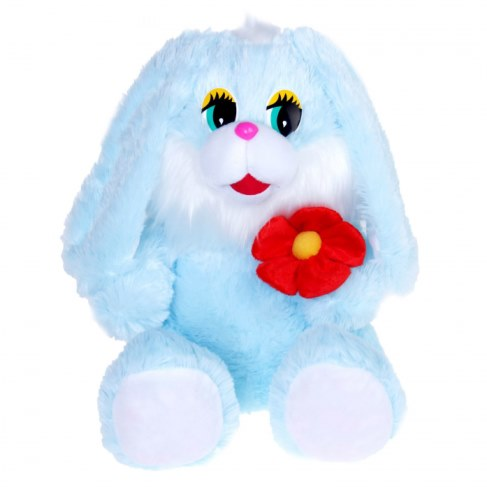 Мягкая игрушка Нижегородская игрушка Зайчик с цветком Cm-341-ц-5 в Москве