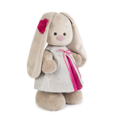 Мягкая игрушка BUDI BASA StS-198 Зайка Ми в платье из жаккарда в Москве
