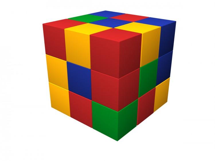Мягкий конструктор «Кубик-рубик» ДМФ-МК-27.90.13 в Москве