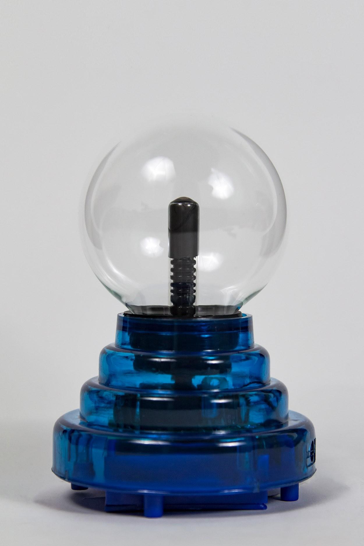 Плазменный шар на батарейках синий Аудио (D - 8см) (USB) в Москве