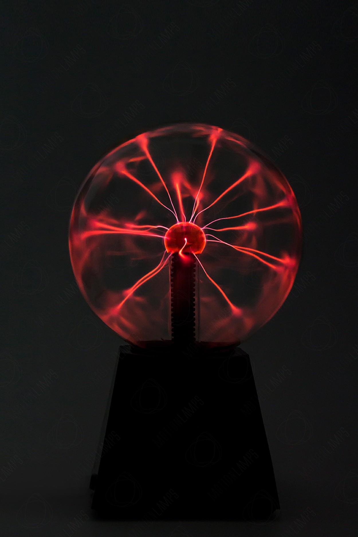 Электрический плазменный шар (D - 15см) Красный в Москве