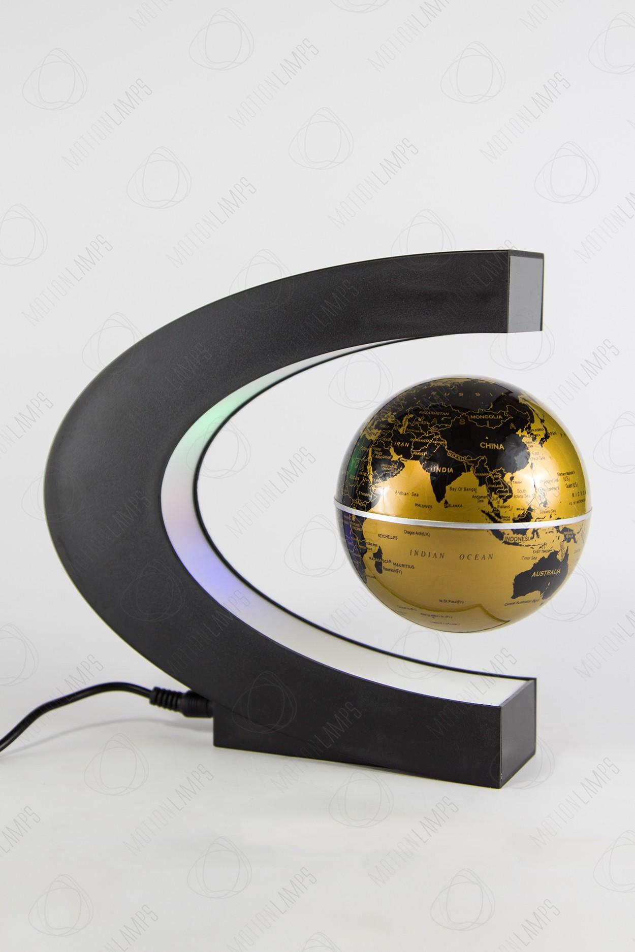Парящий глобус с RGB-подсветкой (золотой) (D - 9см) в Москве