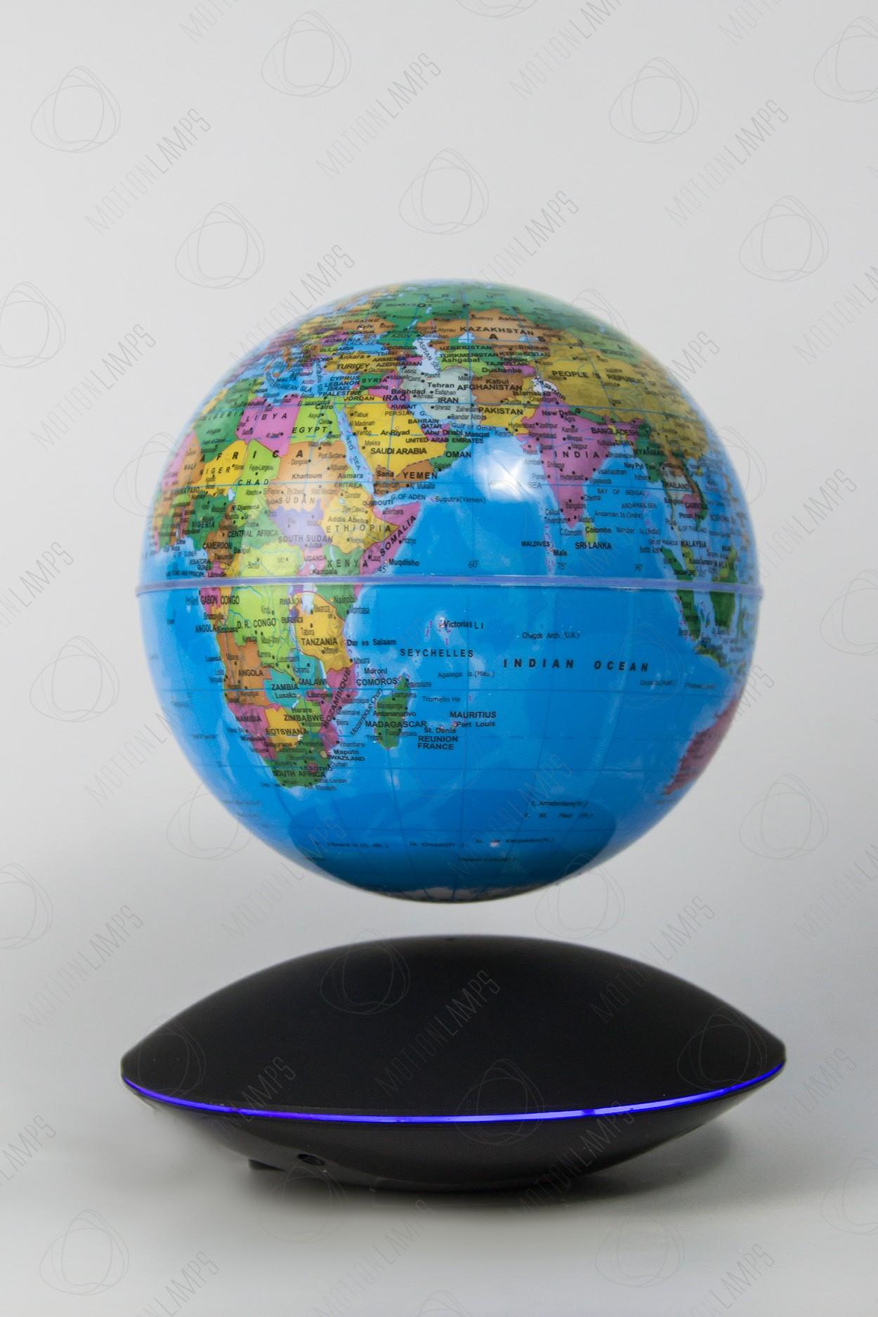 Глобус на магнитной подушке голубой (D-14см) в Москве