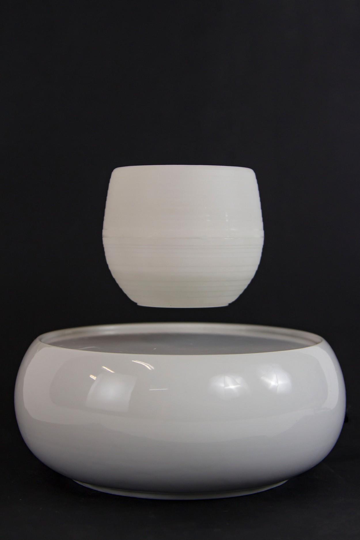 Левитирующий горшок - керамика - белый в Москве