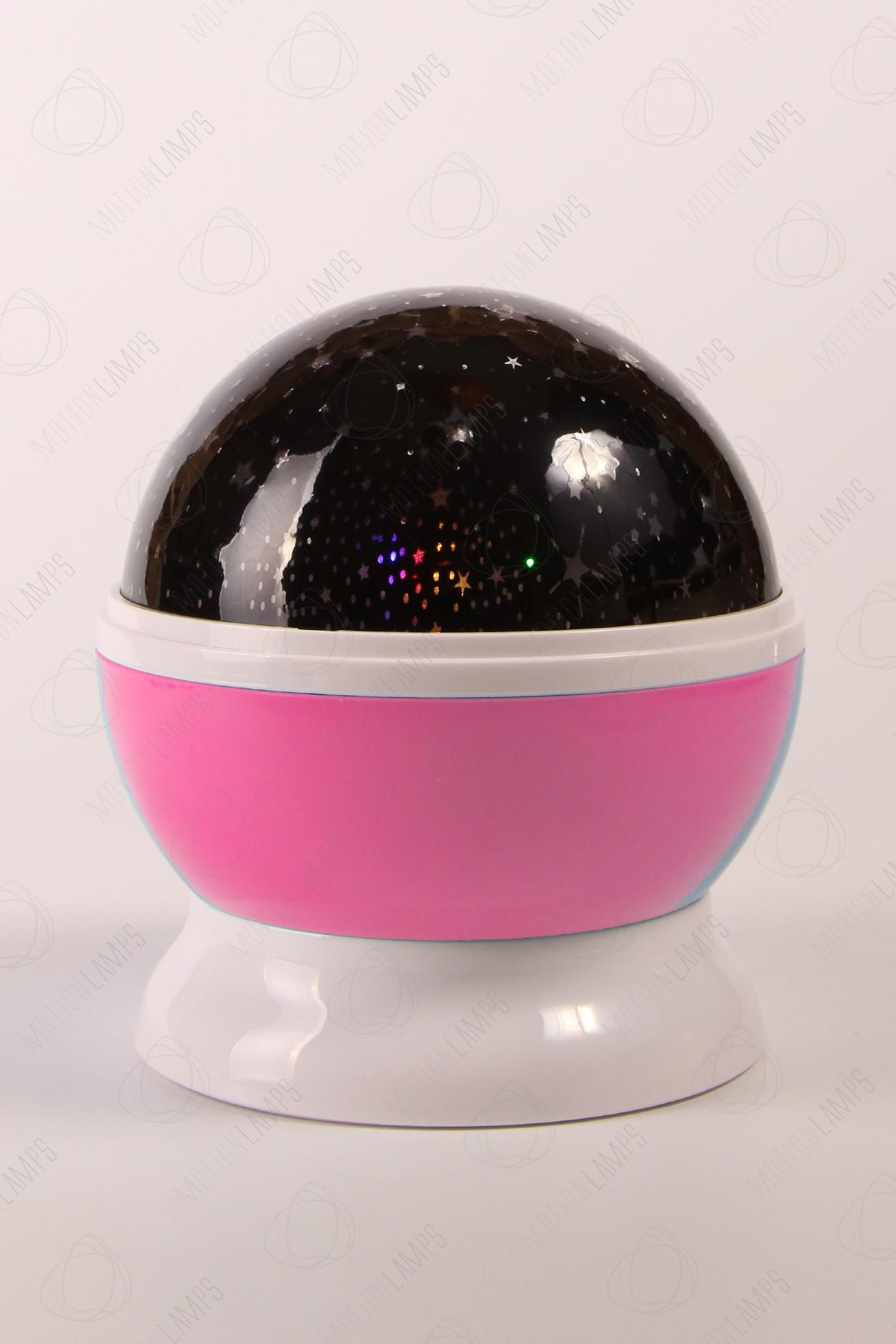 Ночник-проектор звездного неба «Dream» розовый в Москве