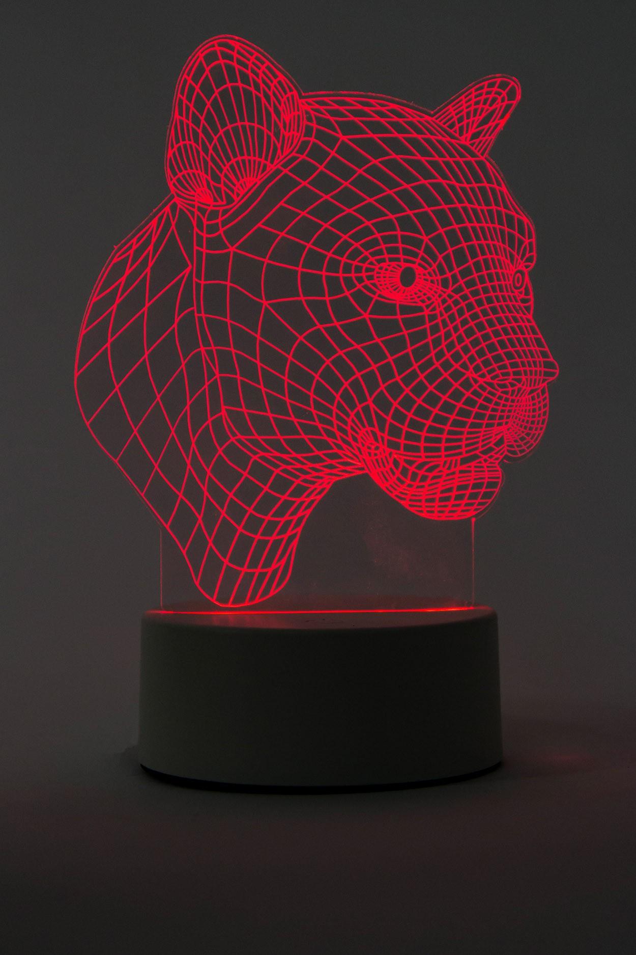 3D Led лампа Пантера 3 цвета в Москве