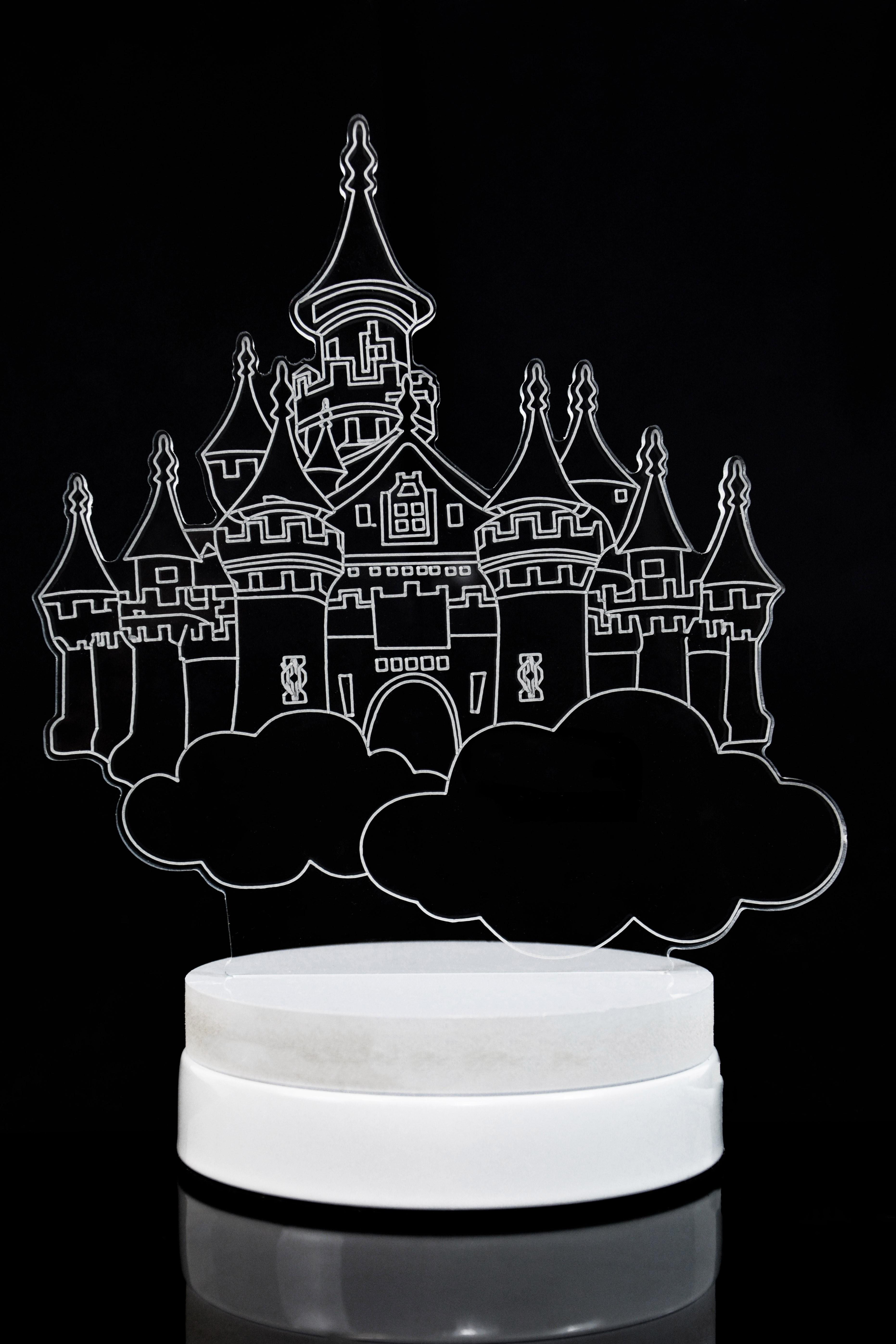 Светодиодная 3D лампа Облачный замок 3 цвета в Москве