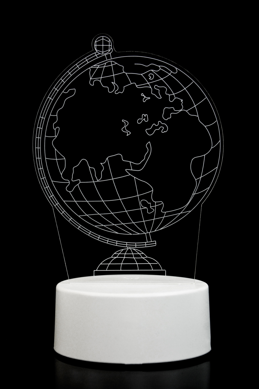 3D ночник Глобус 3 цвета в Москве