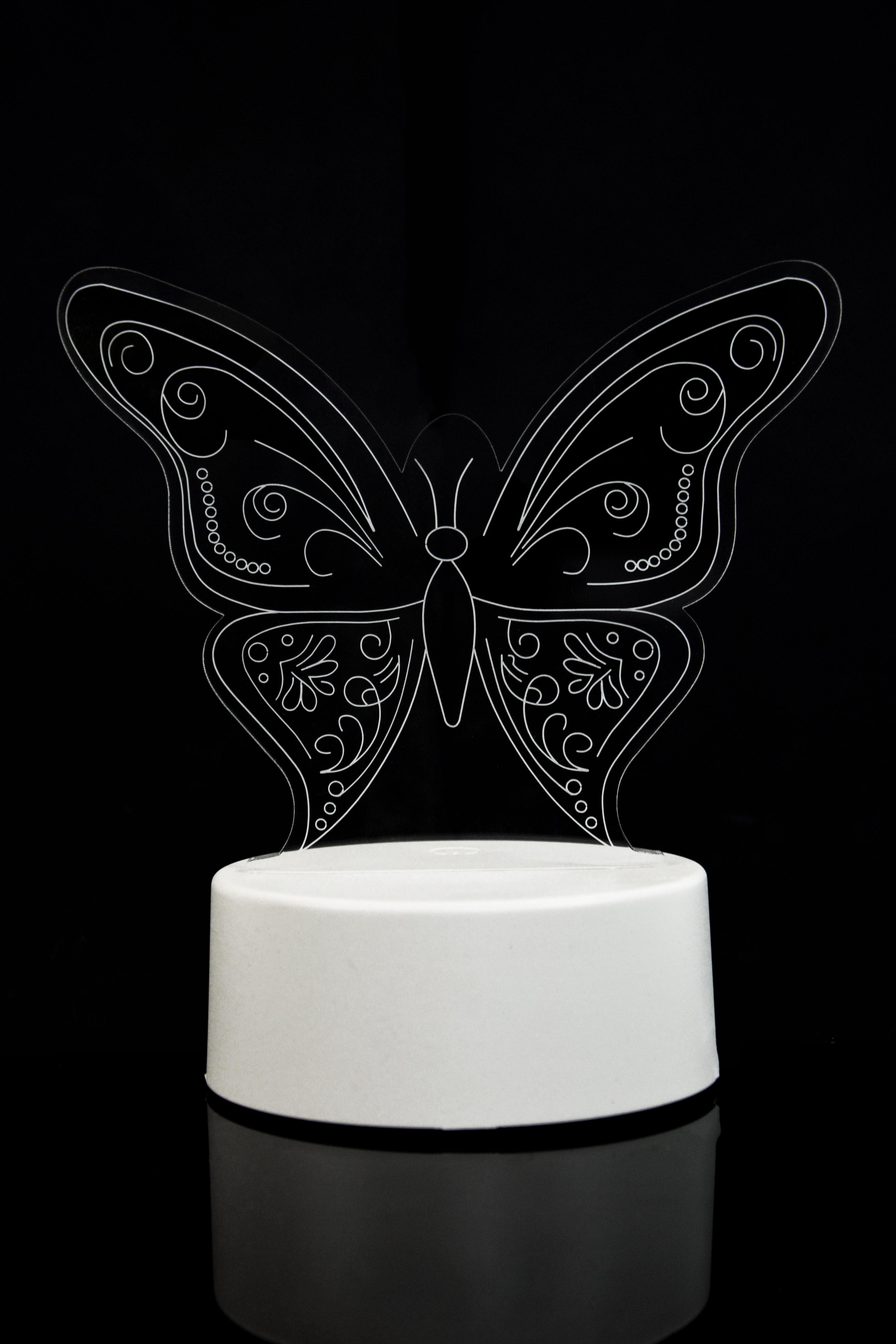 3D Светильник Бабочка 3 цвета в Москве