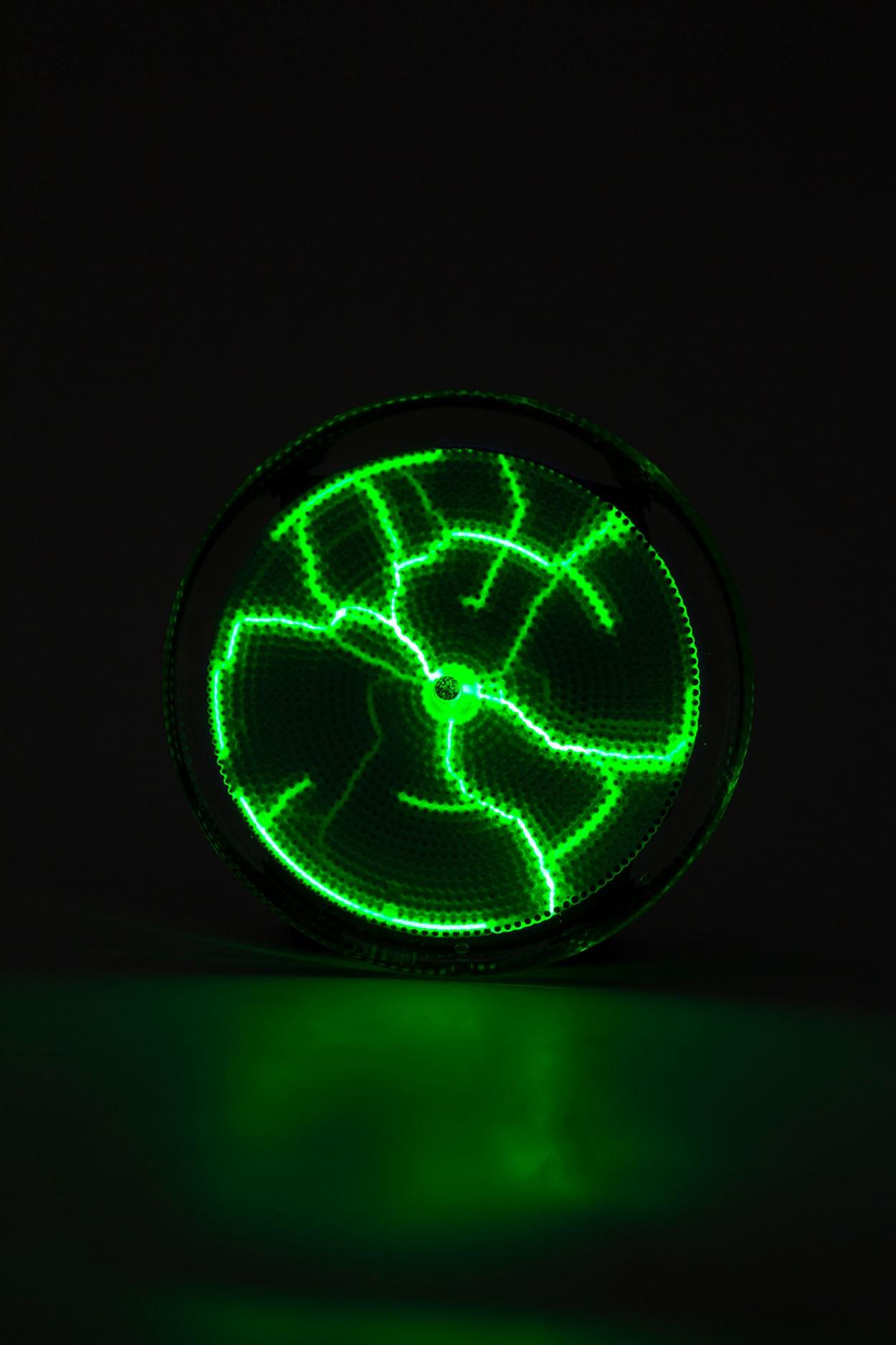 Карманный плазменный диск Тесла Зелёный (Pocket) D - 7см в Москве