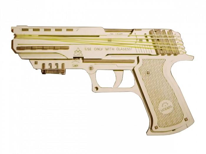 Конструктор 3D-пазл Ugears Пистолет Вольф-01 в Москве