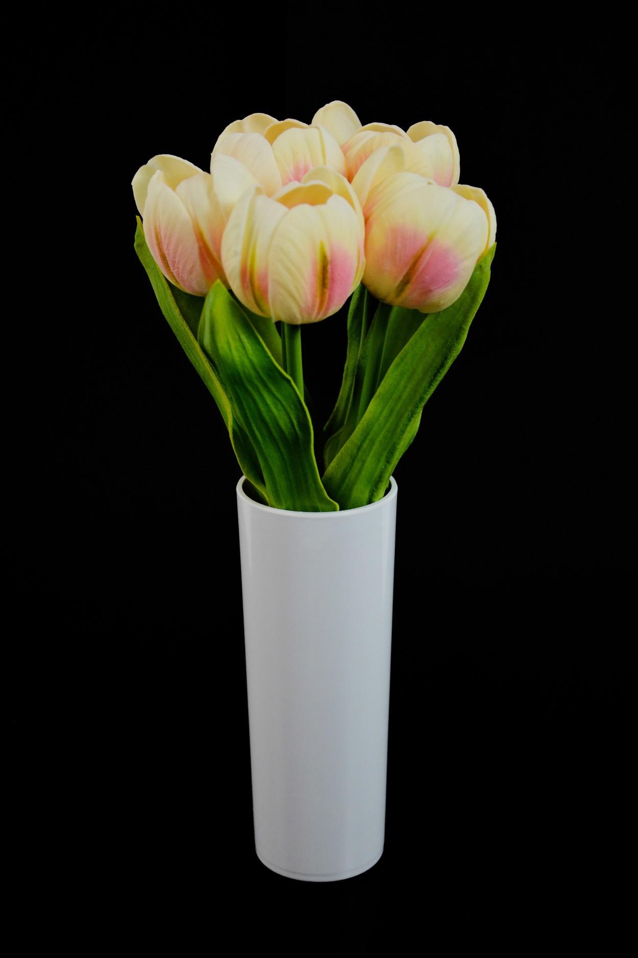 Светодиодные цветы Тюльпаны (кремовые) в Москве