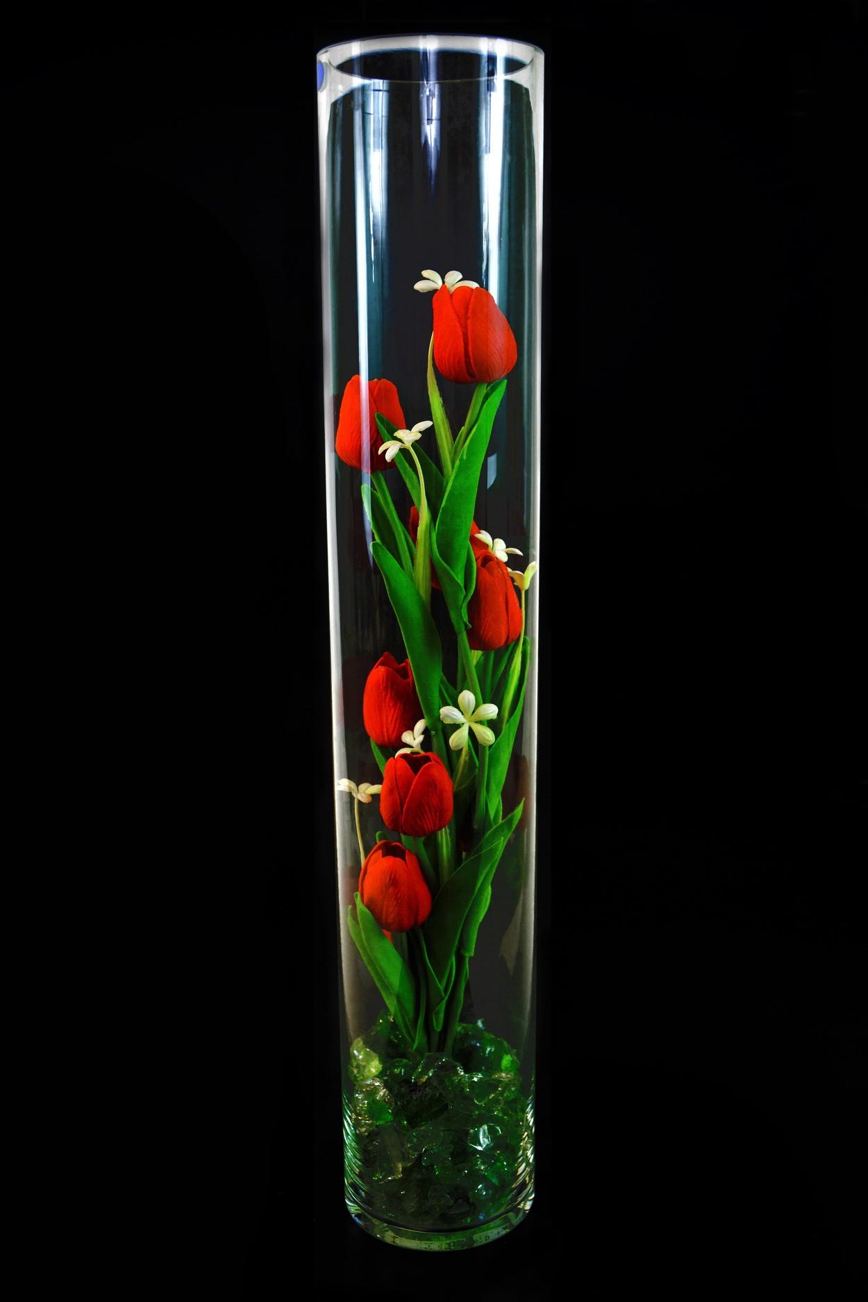 Ночник светящиеся тюльпаны 9шт Красные(зел) в Москве