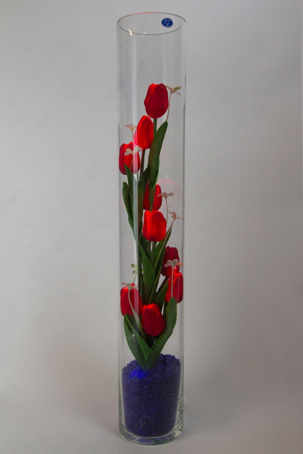 Ночник светящиеся тюльпаны 9шт Красные(син) в Москве