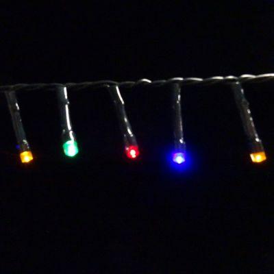 Светодиодная гирлянда на батарейках с таймером (мультиколор) Luca lights 83090 2760 см в Москве