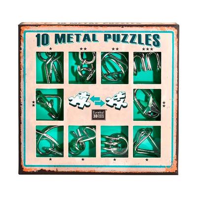 """Набор металлических головоломок""""Eureka! 3D Puzzle"""", 10 шт, цвет зеленый в Москве"""