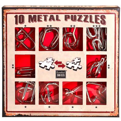 """Набор металлических головоломок""""Eureka! 3D Puzzle"""", 10 шт, цвет красный в Москве"""