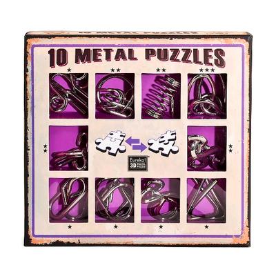 """Набор металлических головоломок""""Eureka! 3D Puzzle"""", 10 шт, цвет фиолетовый в Москве"""