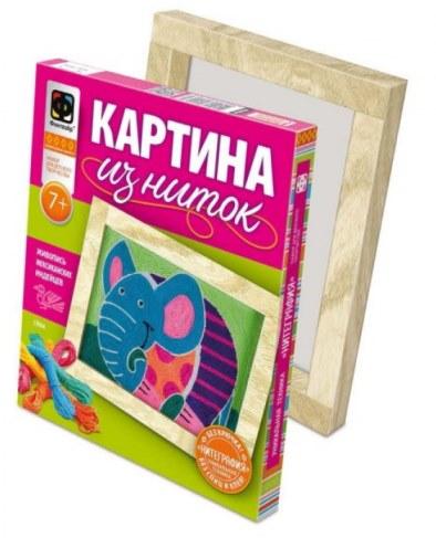 Картина Josephin из ниток Слон 409003 в Москве