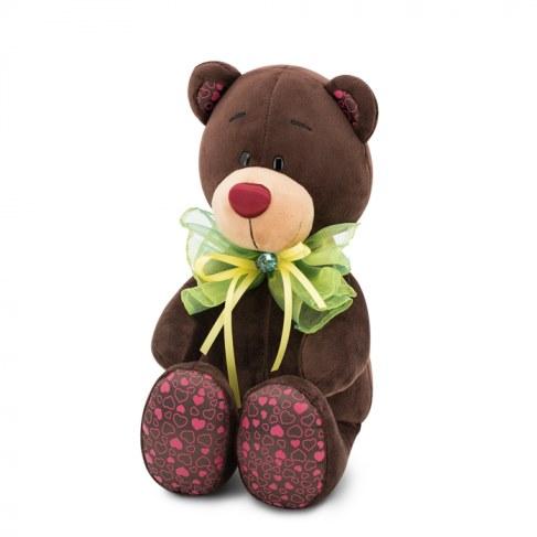 Мягкая игрушка Orange Медведь Зелёный бант Choco&Milk 20 С016/20 в Москве