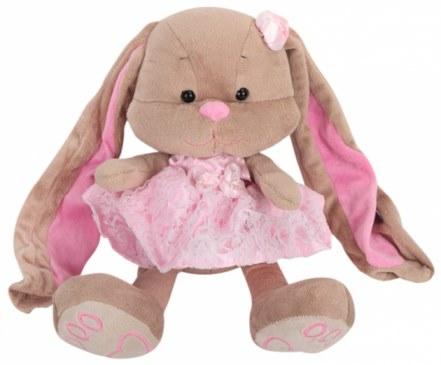 Мягкая игрушка MaxiToys Зайка Лин в розовом платье 25 см JL-002-25 в Москве