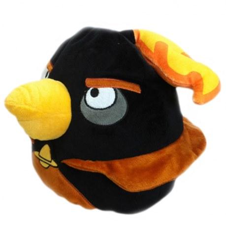 Мягкая игрушка Angry Birds чёрная птица Black Firebomb bird 25 см АВВК10 в Москве