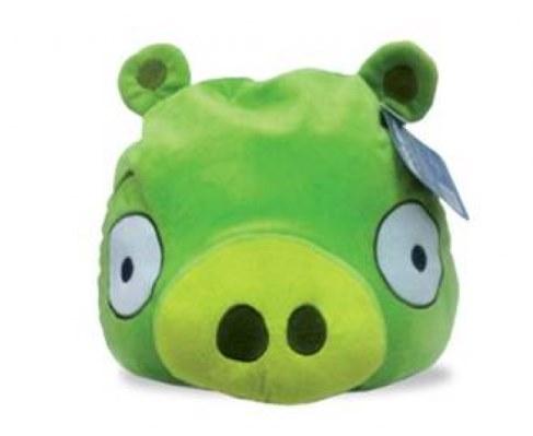 Мягкая игрушка Angry Birds зеленая свинка Green Pig 30 см АВС12 в Москве