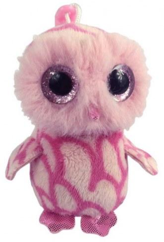 Мягкая игрушка ABtoys Совенок розовый на брелке 12 см M0032 в Москве
