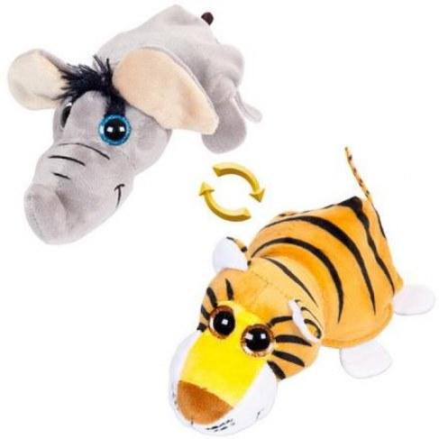 Мягкая игрушка Teddy Перевертыши Слон/Тигр 16 см M5006 в Москве