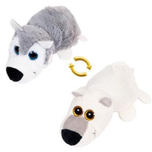 Мягкая игрушка Teddy Перевертыши Волк/Белый медведь 16 см M5007 в Москве