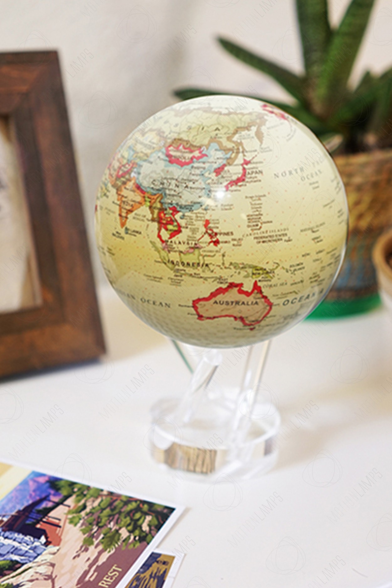 Глобус Mova Globe d12 с политической картой мира (бежевый) в Москве